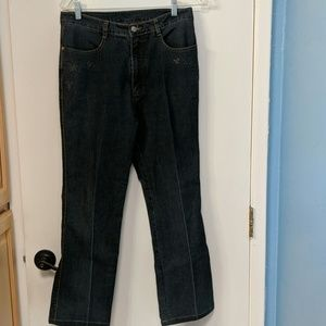 *Unique* L.S. Bird embroidered jeans size 31